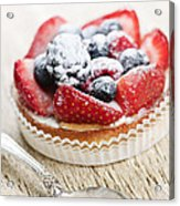 Fruit Tart With Spoon Acrylic Print