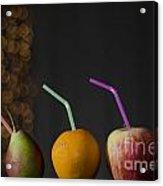 Fruit With Straws Acrylic Print