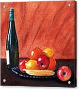 Fruits And Wine Acrylic Print
