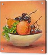 Fruits In A Plate Acrylic Print