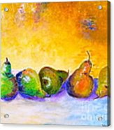 Fruity Pearfection Acrylic Print