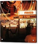Fryeburg Fair At Night  Fried Dough Acrylic Print