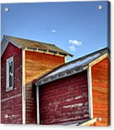 Ft Collins Barn Sunset 13505 Acrylic Print by Jerry Sodorff