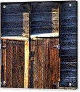 Ft Collins Barn Tin 13547 Acrylic Print