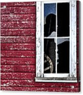 Ft Collins Barn Window 13568 Acrylic Print by Jerry Sodorff