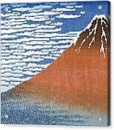 Fuji Mountains In Clear Weather Acrylic Print