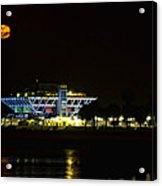 Full Blood Moon Over The St. Petersburg Pier Acrylic Print