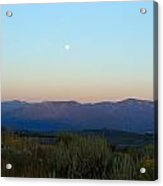 Full Moon And Sage Grass Acrylic Print