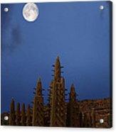 Full Moon At Bandiagara Mali Acrylic Print