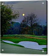 Full Moon At The Philadelphia Cricket Club Acrylic Print by Bill Cannon