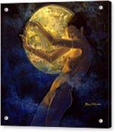 Full Moon Acrylic Print by Dorina  Costras
