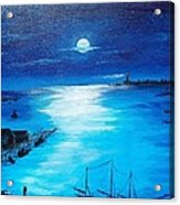 Full Moon Harbor Acrylic Print