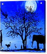 Full Moon In Africa Acrylic Print by Pilar  Martinez-Byrne