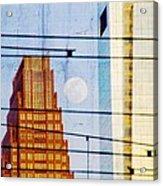 Full Moon In The City Acrylic Print