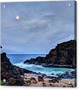 Full Moon In The Clouds Acrylic Print