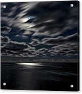 Full Moon On The Bay Of Fundy Acrylic Print