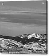 Full Moon On The Co Front Range Bw Acrylic Print