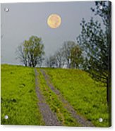 Full Moon On The Rise Acrylic Print