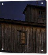 Full Moon Over Barn Acrylic Print