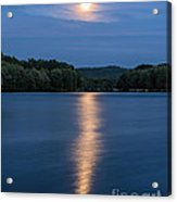 Full Moon Over Locke Lake Acrylic Print