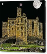 Full Moon Over Medieval Ruins Acrylic Print