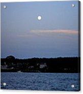 Full Moon Over Narragansett Bay Acrylic Print