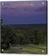 Full Moon Over The Ozarks Acrylic Print