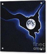 Full Moon Silver Lining Acrylic Print