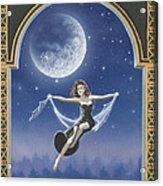 Full Moon Swing Acrylic Print by Nickie Bradley