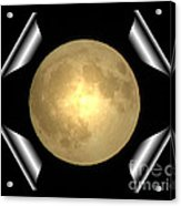 Full Moon Unfolding Acrylic Print
