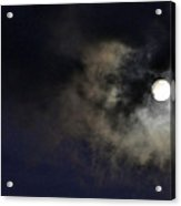 Full Moon With Clouds Night Usa Acrylic Print
