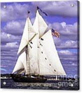 Full Sails Ahead Acrylic Print
