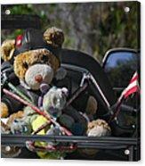 Full Throttle Teddy Bear Acrylic Print by Christine Till