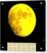 Full Yellow Moon 2014 Calendar Acrylic Print