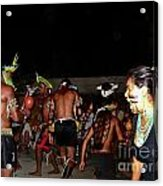 Fulnio Indians Of Brazil  Acrylic Print