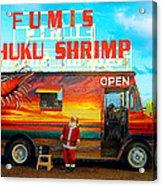 Fumis Kahuku Shrimp Acrylic Print by Ron Regalado