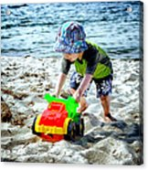 Fun At The Beach Acrylic Print