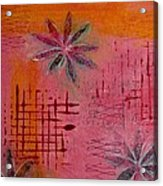 Fun Flowers In Pink And Orange 1 Acrylic Print