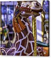 Fun Giraffe Carousel Ride Acrylic Print
