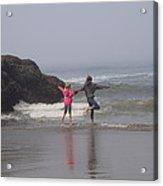 Fun On The Beach Acrylic Print
