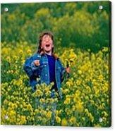 Fun Picking Flowers Acrylic Print