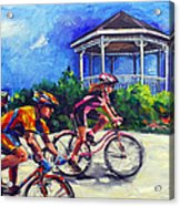 Fun Time In Bicycling Acrylic Print