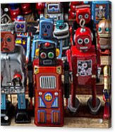 Fun Toy Robots Acrylic Print by Garry Gay