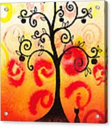 Fun Tree Of Life Impression Iv Acrylic Print