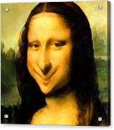 Fun With Mona Lisa Acrylic Print