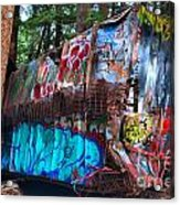 Function Junction Train Wreckage Acrylic Print
