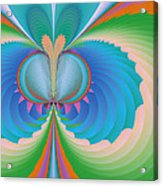 Funky Butterfly Abstract Art Acrylic Print
