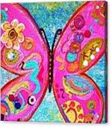 Funky Butterfly Acrylic Print