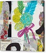 Funky Forest Collage Acrylic Print