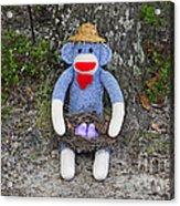 Funky Monkey - Purple Peeps Acrylic Print